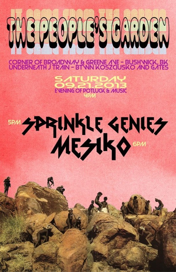 MESIKO AT THE PEOPLE'S GARDEN SEPT 21